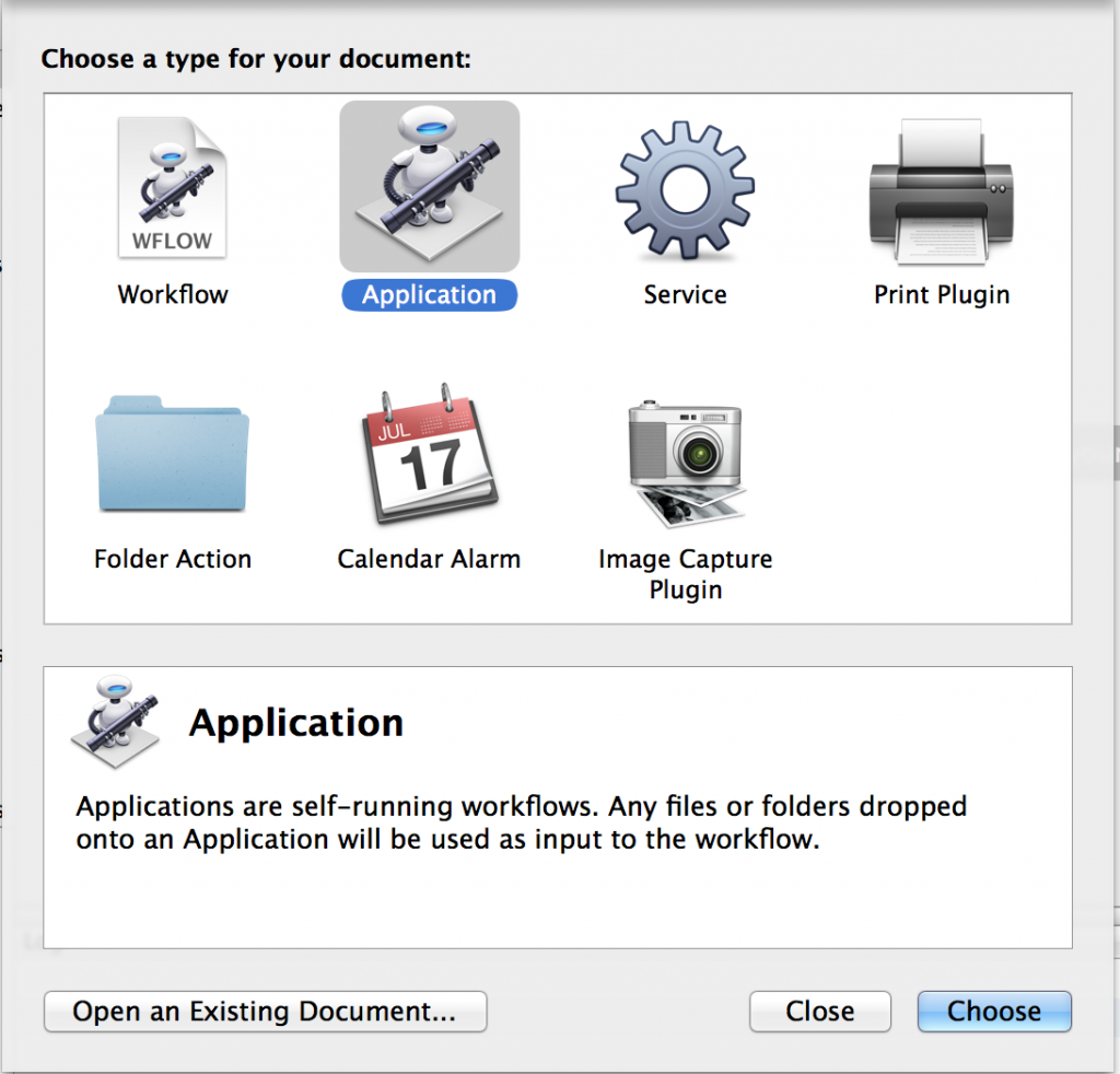 Automator Application